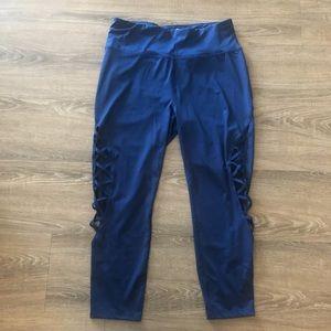 5/$25! Avia navy cropped lattice cutout leggings